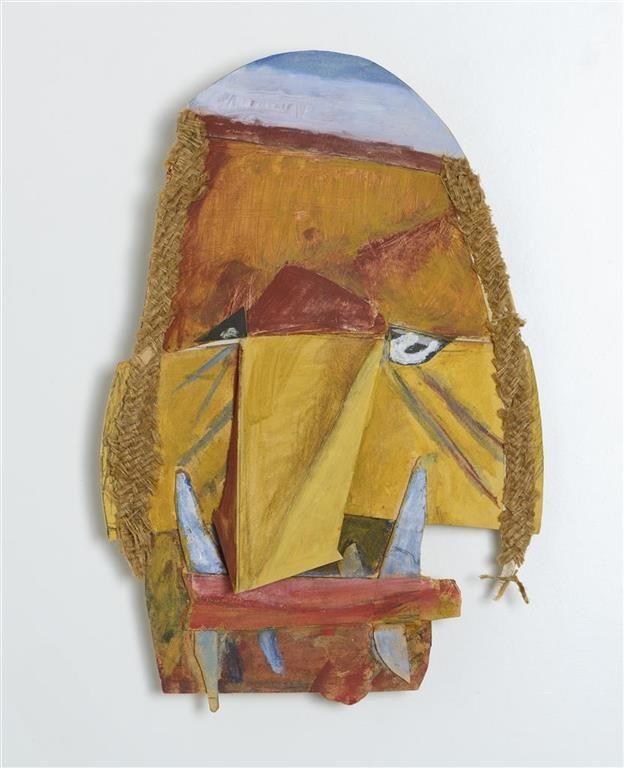Mask Marcel Janco, 1960s (after a 1918 original). Janco Dada Museum, Ein Hod