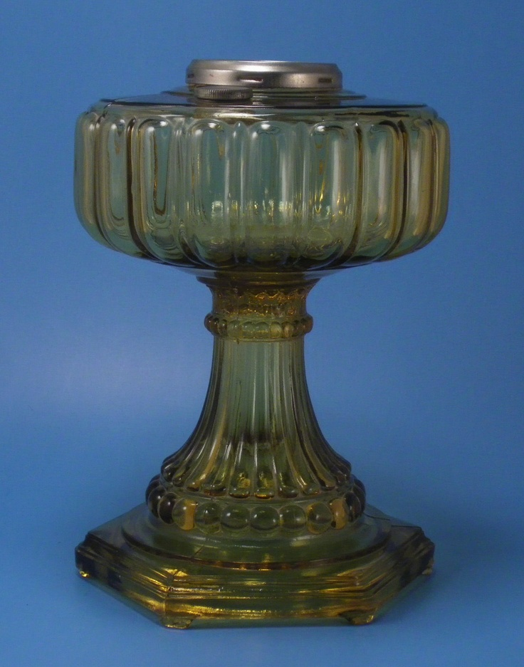 Aladdin Cathedral Oil Lamp Amber With Fill Cap Oil Lamps