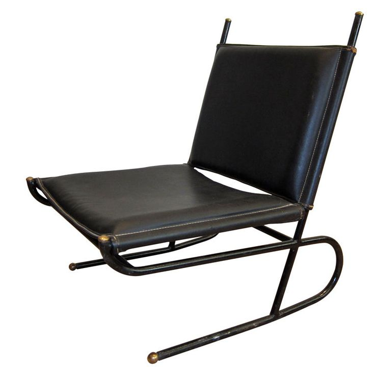 Schön Lounge Chair By Jacques Adnet.