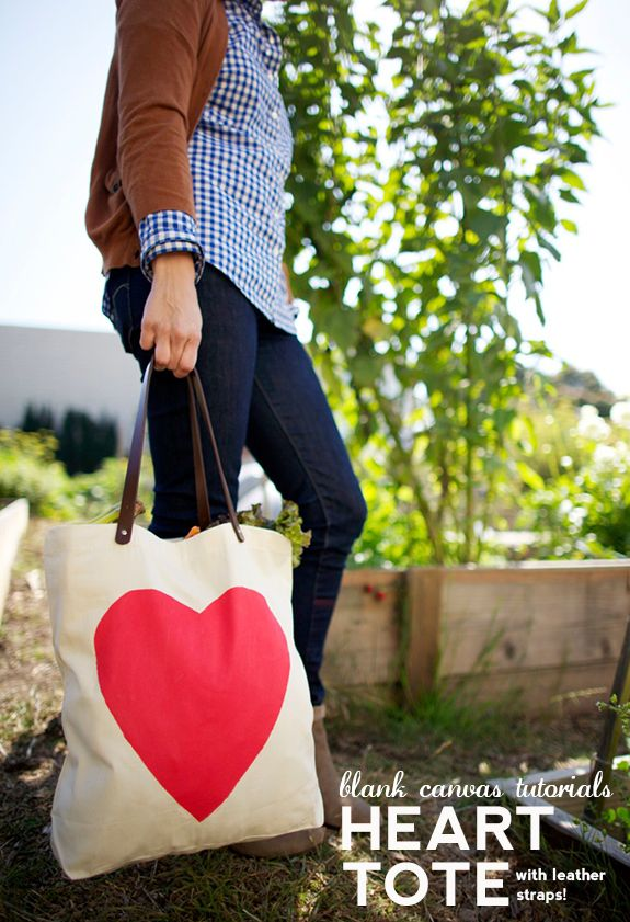DIY heart bag with leather straps