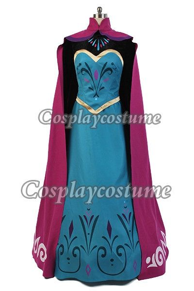 Disney Film Frozen Elsa's Coronation outfit Dress Cosplay Costume *Custom-made*