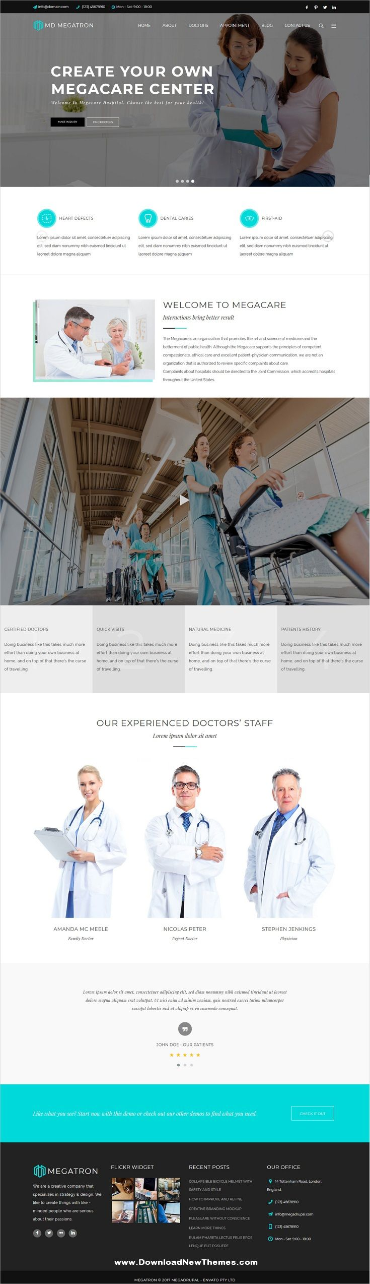 Megatron Is A Clean Minimal And Modern Design Responsive Multipurpose Drupal Templates For Corporate Fitness Drupal Web Design Inspiration Homepage Layout