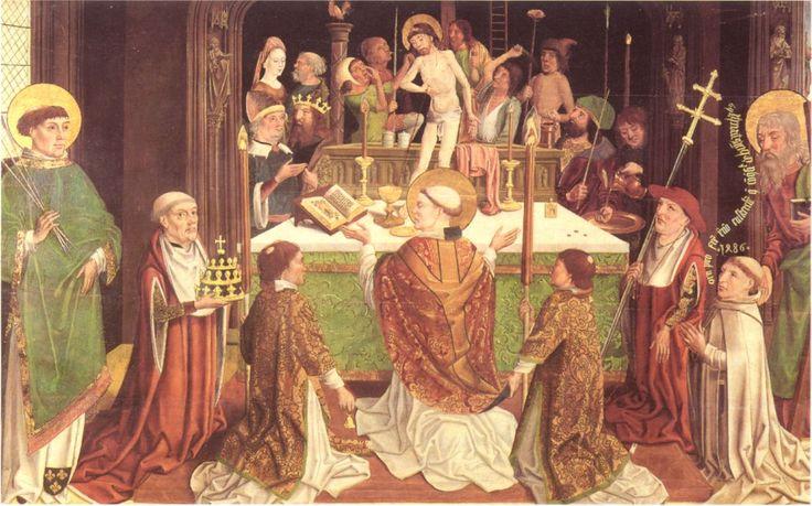 Meister der hl. Sippe und Werkstatt Gregorsmesse datiert 1486