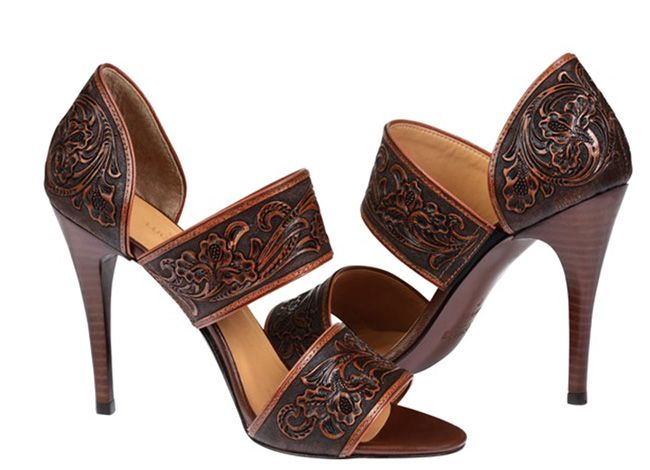 Get ready for spring with these tooled leather heels from Lucchese. Looking for a new pair of heels for spring or Easter? Lucchese has some awesome hand-tooled leather sandals and pumps…