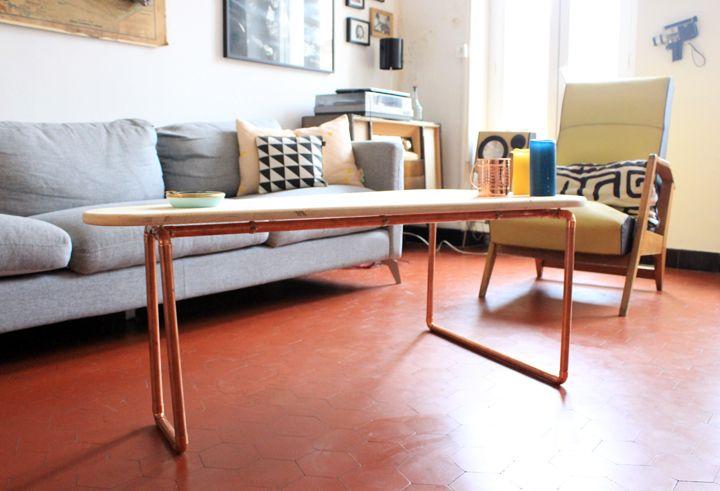 1000 id es propos de construire une table sur pinterest canap rustique - Construire une table basse ...