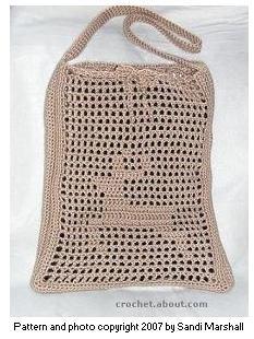 crochet crochet deer bag
