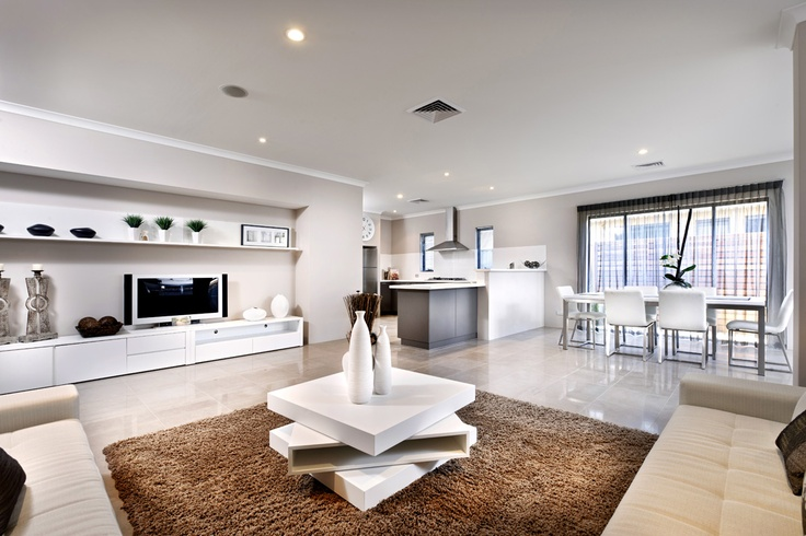 Integrated kitchen, dining and living room