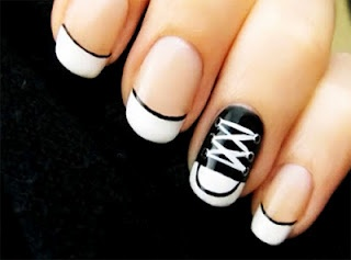 How to do converse nail art. :D