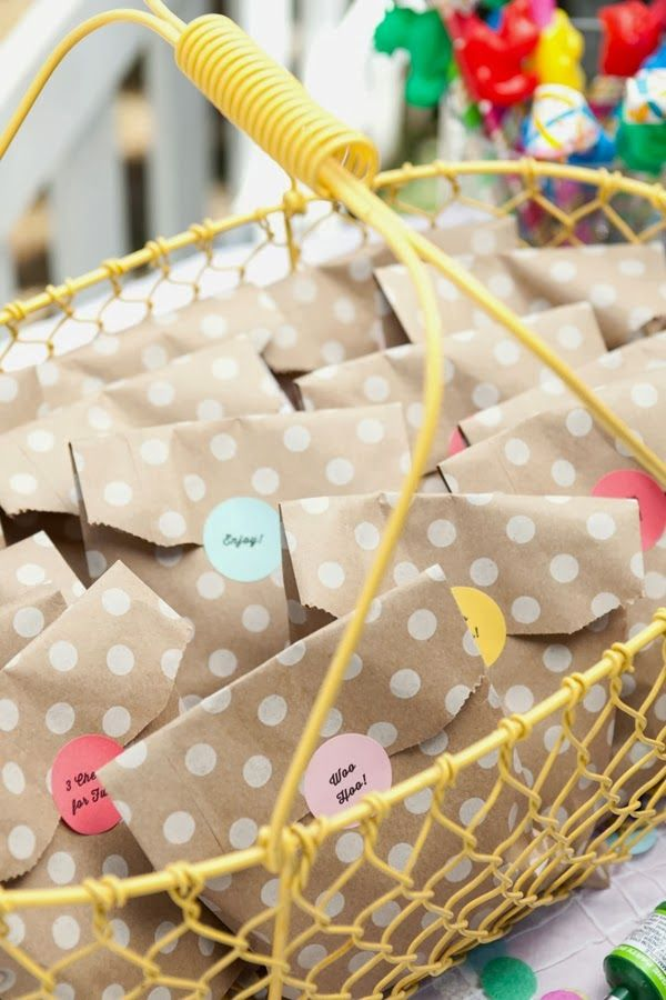 A Confetti Filled 3rd Birthday | CAKE. Events & Designs Favor Bags From Shop Sweet Lulu
