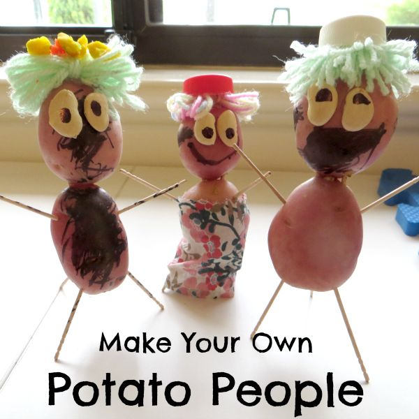 Make Your Own Potato People- silly fun for kids-Summer is coming