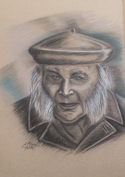 Человек из прошлого - Изобразительное искусство - Пастель, тушь