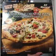 Conte's Mushroom Florentine Pizza With Roasted Garlic And Olive Oil