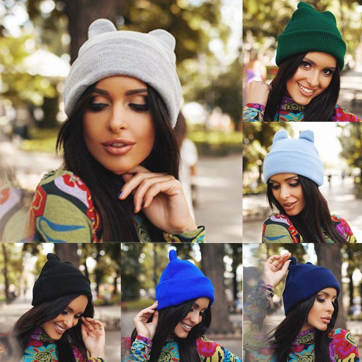 >> Click to Buy << Fashion Women Devil Horns Cat Ear Cute Crochet Braided Knit Beanie Ski Wool Warm Cap Hat #Affiliate