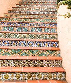Mexicaanse tegels trap