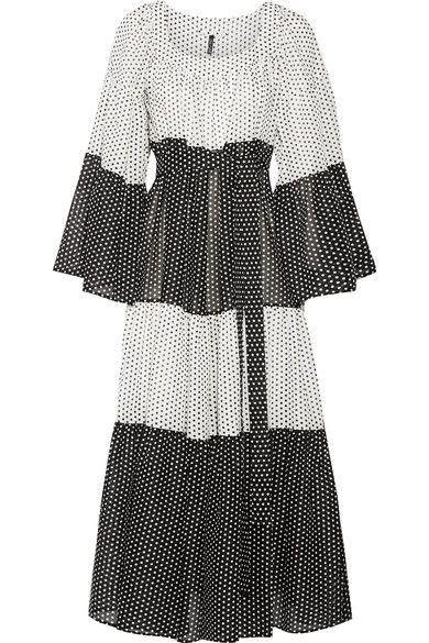 Lisa Marie Fernandez - Tiered Polka-dot Cotton-voile Maxi Dress - White - 3