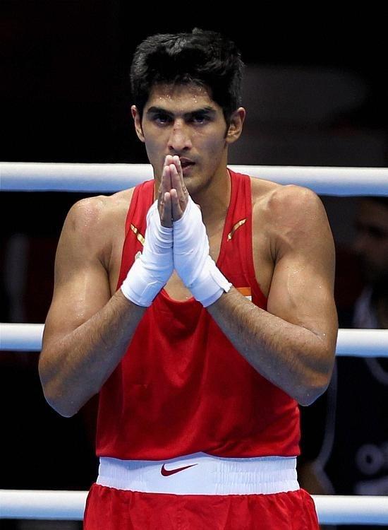 Boxer Vijender Singh undergoes drug test at National Anti Doping Agency.