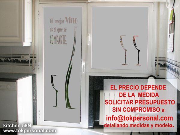 Vinilo Decorativo Para Puerta De La Cocina Con Modelo De Botella