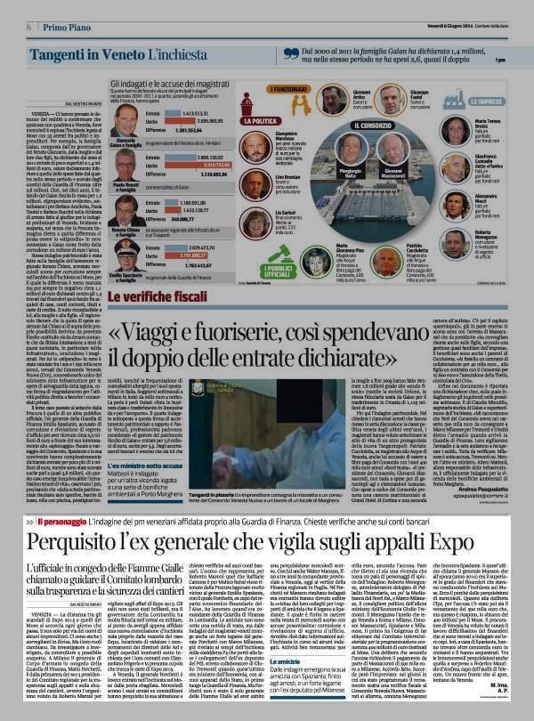 Mario Forchetti: ex generale che vigila sugli appalti #Expo chiamato a guidare il Comitato lombardo, indagato per il #Mose