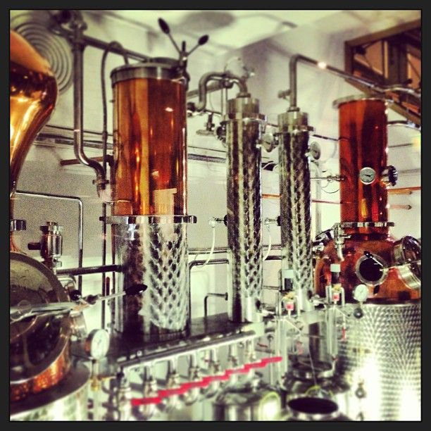 Gin takes centre stage at the City of London Distillery seeing as its made on site. #gin #cocktails # london