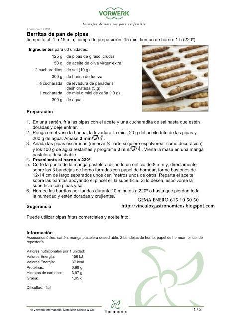 Pan de pipas / sunflower seeds bread