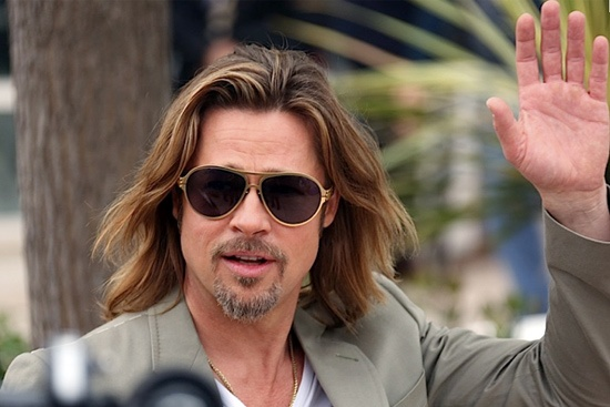 Brad Pitt Cannes 2012 with ic! berlin Bashir frame