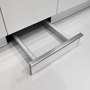 Pull-Out Plinth Drawers for Kitchen Storage or pet bowls