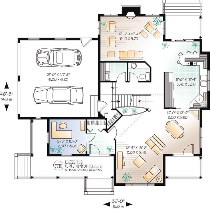 plan maison 15 x 8