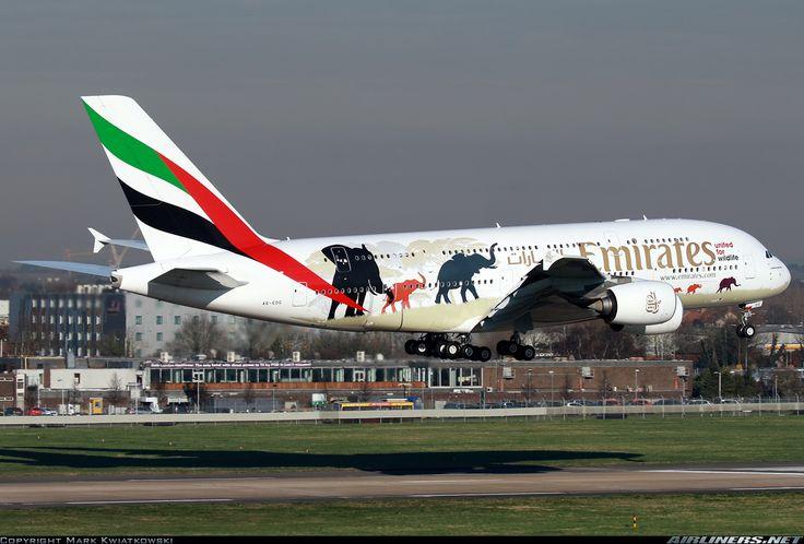 Airbus A380-861, Emirates, A6-EDG, cn 023. London, United Kingdom, 19.1.2016.