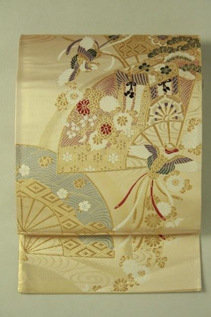 Mild gold fukuro obi