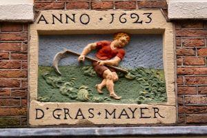 VVAG .. Gevelsteen D GRASMAYER, Bethaniëndwarsstraat 18 Amsterdam