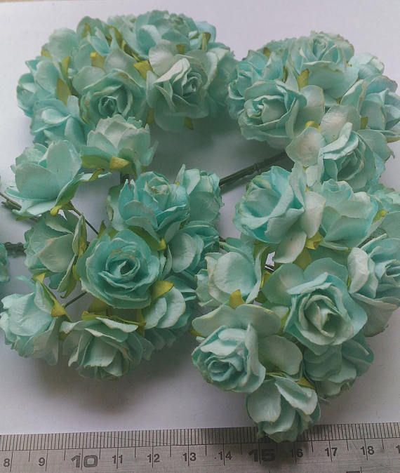 13 best mulberry roses paper flowers images on pinterest roses 50 big mint blue white two tone color mulberry paper roses flowers size 12 inch or 3cm wholesale bulk mightylinksfo