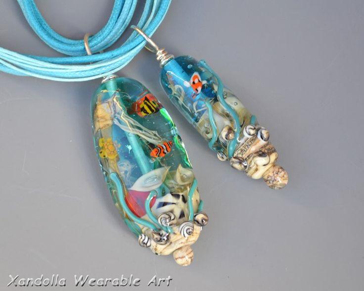 Ocean Life pendants by Su Bishop of Xandolla Wearable Art
