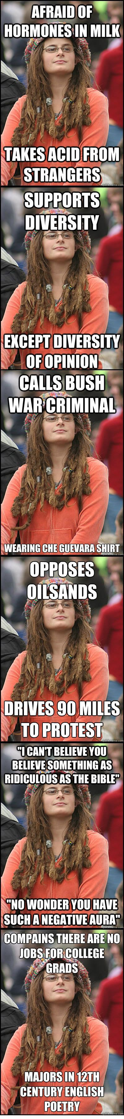 This is good: Damn Hippies, Guy, Truth, Some People, College, So True, So Funny, Liberal Logic