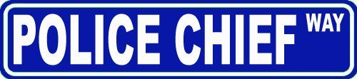 Police Chief Way Custom Street Sign 6x24 Novelty Sign Home Decor Novelty Humor Motivation Funny Sign Famous Street Sign USA Police Law Enforcement PD Decor Great Gift -- Click image to review more details. (This is an affiliate link and I receive a commission for the sales)