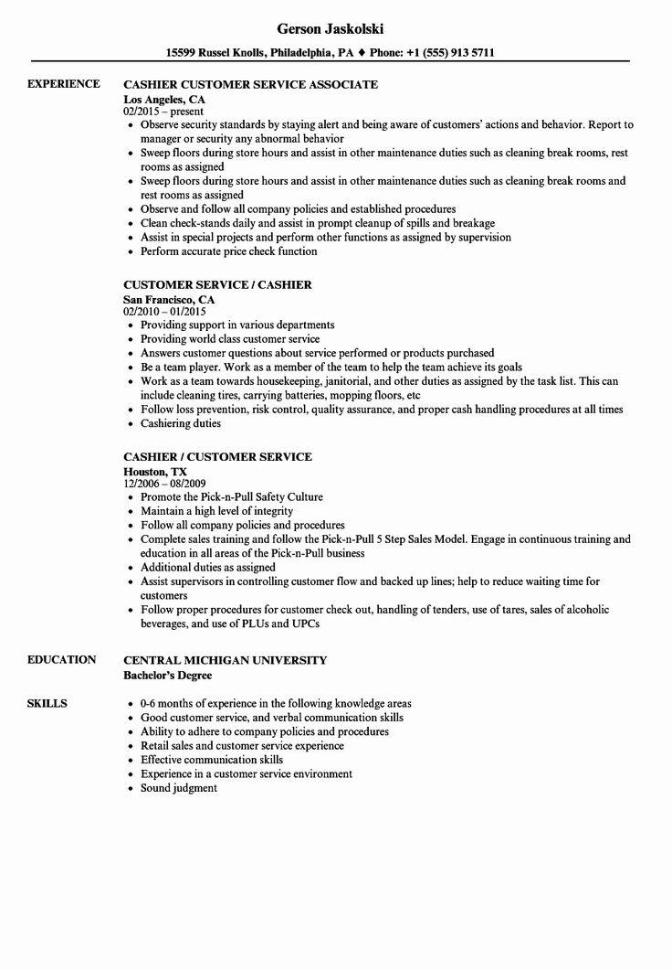 25 Gas Station attendant Resume Customer service resume