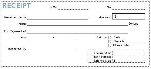 Cash Receipt Form Pdf Free Receipt Template Rent Receipt and Cash – Free Printable Cash Receipt Template