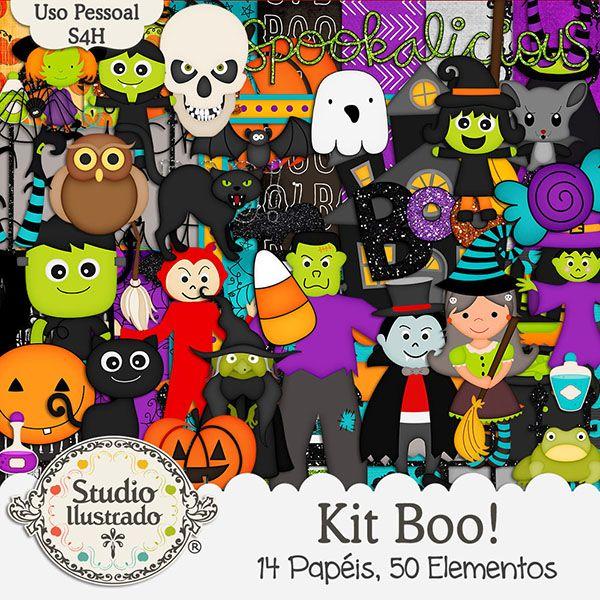 Kit Boo!, Halloween, Sweet, Doce, Candy, Celebration, Children, Coruja, Owl, Aranha, Spider, Crianças, Celebração, Abóbora, Pumpkin, Smash, Fantasma, Black Cat, Gato Preto, Ghost, Bruxa, Drácula, Vampiro, Múmia, Frankenstein, Monstro, Morcego, Doçura ou Travessura, Witch, Dracula, Vampire, Mummy, Frankenstein, Monster, Bat, Trick or Treat, Dia das Bruxas, Halloween, Papéis, Elementos, Papers, Elements