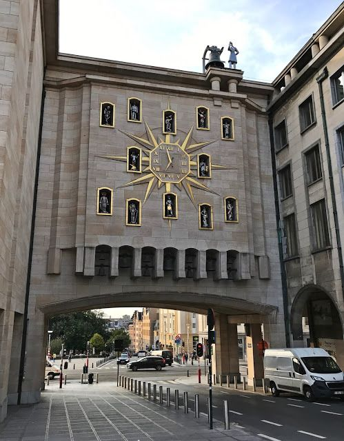 The Jacquemart Carillon clock from Brussels.