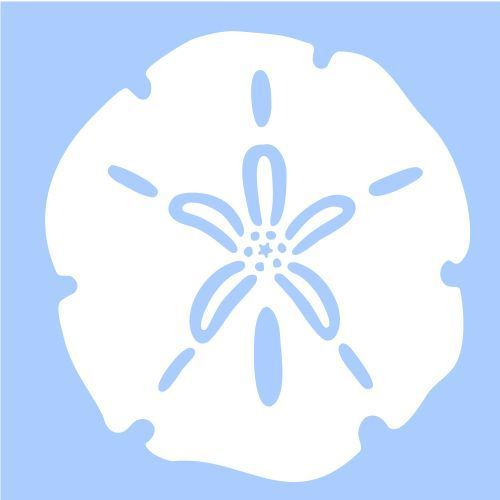 "SAND DOLLAR STENCIL NAUTICAL SEA OCEAN MARINE BEACH STENCILS TEMPLATE NEW 4""X5"" #STENCILSCRAFTSINC"