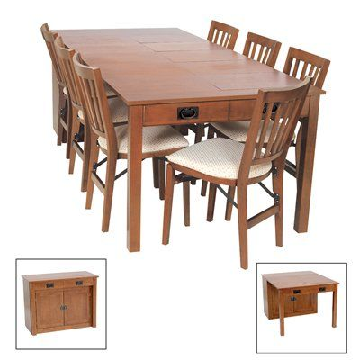 Mission Expanding Cabinet Dining Table This Versatile