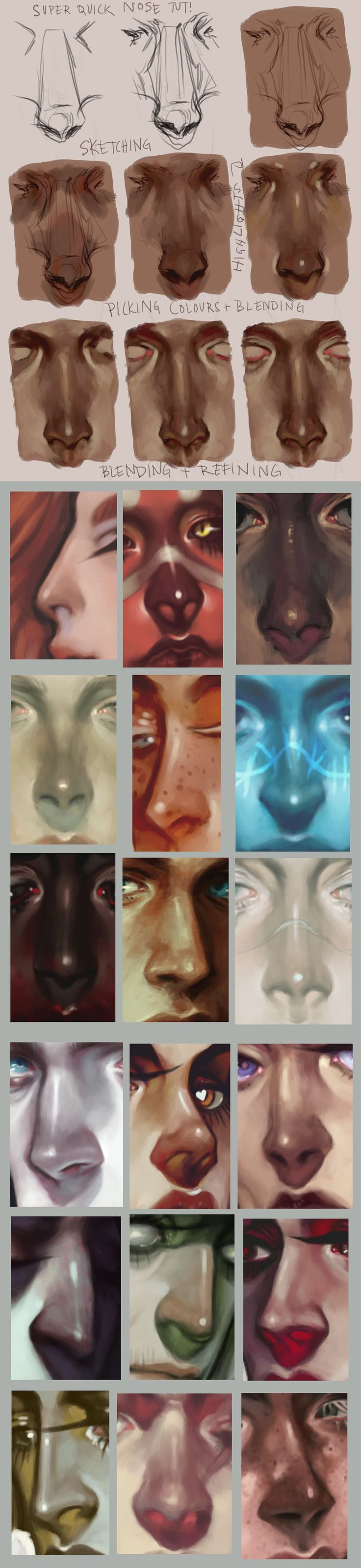 http://anatomicalart.tumblr.com/post/96059128524/harteus-super-quick-nose-painting-tutorial-a