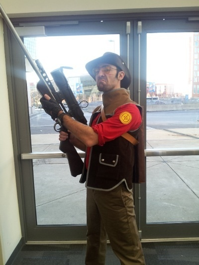 TF2 Cosplay - awesome! Looks just like sniper, lol!