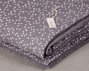 Tipi teppe – Grå m/hvite stjerner