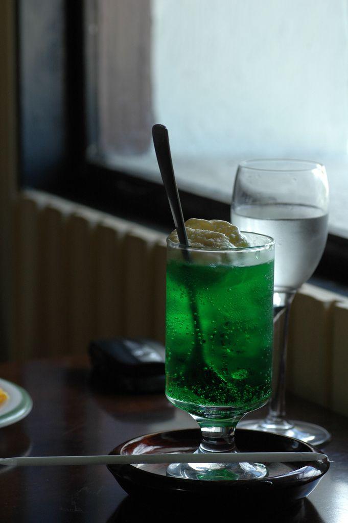 Japanese Melon Soda Float
