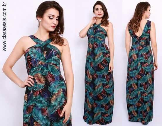 Aquele vestido que dispensa qualquer legenda! <3  Vestido longo cod: 24.642 Tecido viscose com linho La Estampa.  Mais novidades em www.claraassis.com.br