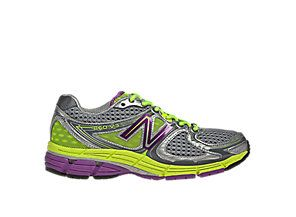 New Balance 860v3, Silver with Purple  Yellow