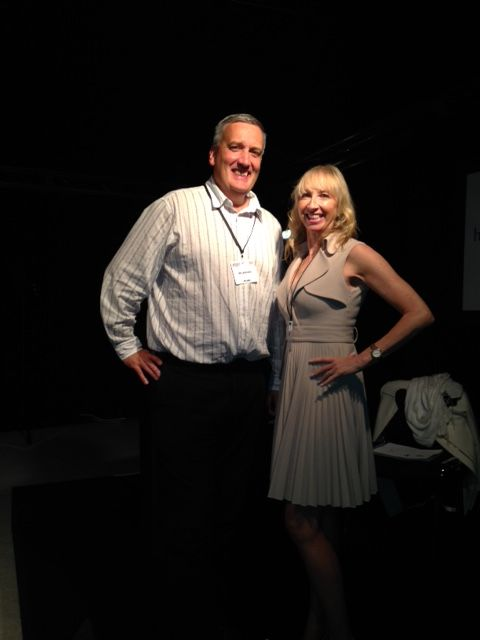 Here's Ian and Jean our fantastic trainers who delivered 4 seminars each over the 2 days in the Hemsley Fraser theatre.