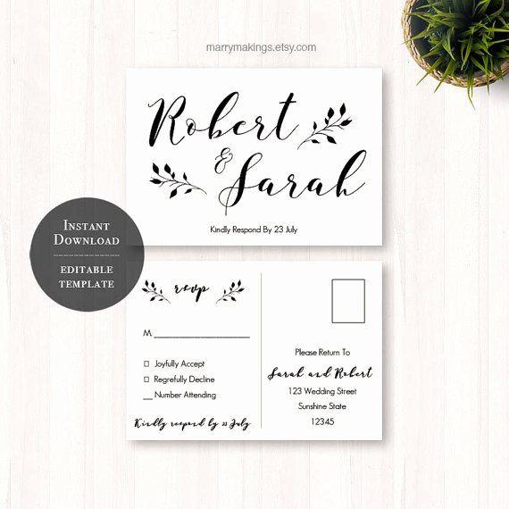 Wedding Rsvp Postcard Templates Best Of Diy Wedding Rsvp Rsvp Template Wedding Printable Rsvp Wedding Cards Wedding Rsvp Postcard Wedding Cards