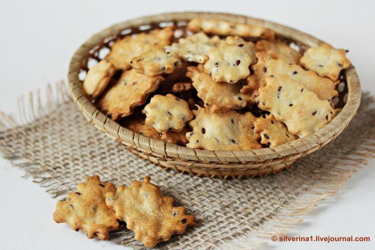 Солёные крекеры с семенами льна - П И Щ Е Б Л О Г. О еде и не только