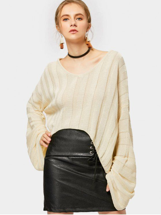 Drop Shoulder High Low Sweater - PALOMINO ONE SIZE
